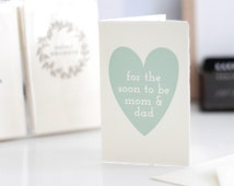 For the soon to be mom & dad // baby shower cards // gender reveal card // card for expecting parents // cards for baby shower