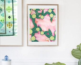 Lime Art - Citrus Art - Tropical Art - Kitchen Art - Fruit Art - Kitchen Decor - Kitchen Wall Art - Tropical Decor - Lime Decor -Fruit Decor