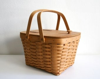SALE Longaberger Wine Bottle Picnic Basket