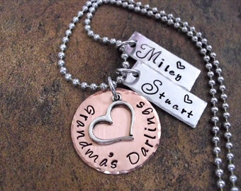 Grandma Jewelry, Grandma's Darlings, Grandmother Jewelry, Nana Jewelry, Personalized Jewelry, Mommy Jewelry, Jewelry for Grandma