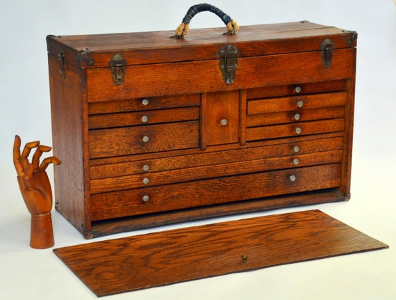 Items similar to reservedwooden machinist tool box chest