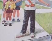 Vintage Educational Classroom Poster Print - Circa 1966 - Crossing Guard