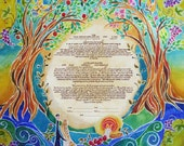 KETUBAH ketubahs - Custom Ketubah - Wedding Vows - Jewish Wedding - Jewish Judaica Art print - Blessings