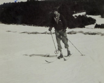 1930's Photo - Man Skiing