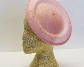 Small Sinamay  Saucer - Dusty Pink