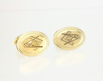 Antique Masonic Cufflinks - Gold