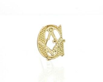 Masonic Pin Antique 10K Gold (1890) Beehive