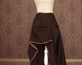 Steampunk skirt victorian green and brown  size S or M