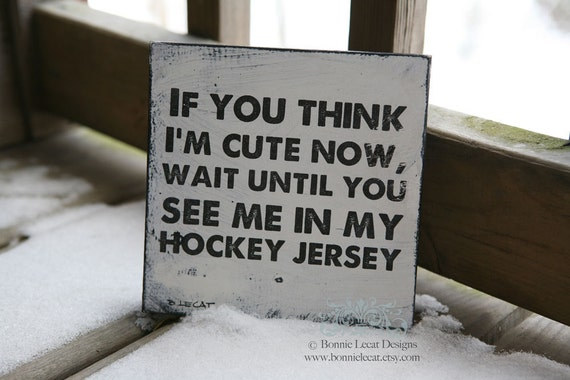 Hockey Sign, Funny Hockey Decor, Baby Boy Hockey Room Decor, Baby Boy Gift, Hockey Baby Shower, Sports Decor, Kids Room Themes, Sports Decor