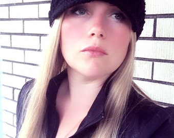 Women Hat, Women Newsboy Hat, Girl Newsboy Hat, Adult Hat, Black Hat, Women Black Hat, Very Elegant and Stylish. Great with any Outfit.