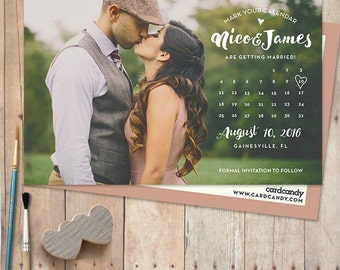 Wedding save the dates etsy calendar save the date card save the date postcard save the date junglespirit Choice Image