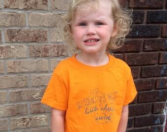 Wisconsins best little cheese curd - kids shirt