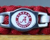 Alabama Crimson Tide Bracelet, Survival Bracelet