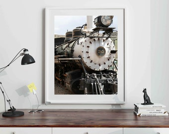 Train Photography - Boys Bedroom Wall Art - Railroad Decor - Travel Photography - Transportation Decor - Engine Photo - Railway - Choo Choo