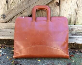 Leather Briefcase Portfolio Attache Vintage