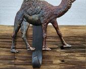 Camel Christmas Stocking Hanger,Holder-Forged Iron