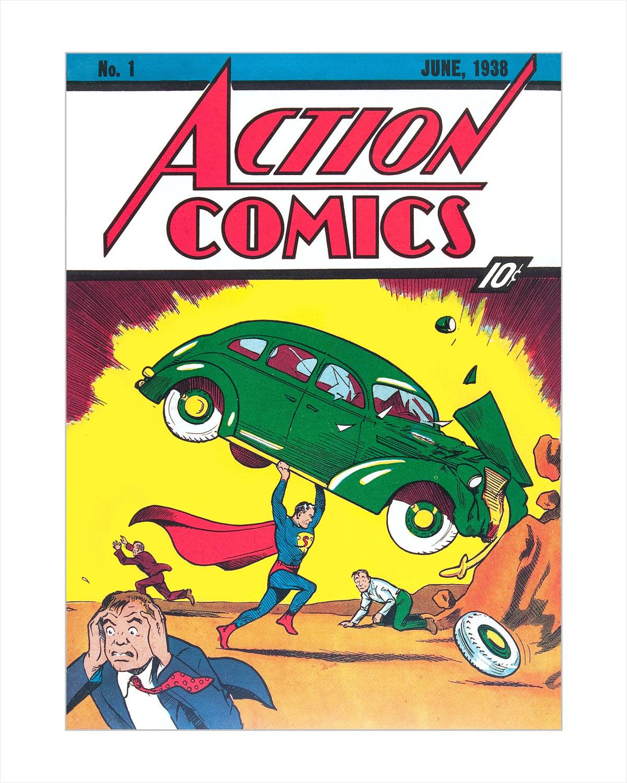 Superman Comic Book Cover Art ~ Superman comic book cover art print action comics the