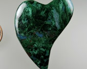 Chatoyant Malachite 100% Natural Hand Cut Cabochon from 49erMinerals Stock#C1379, free U.S. shipping