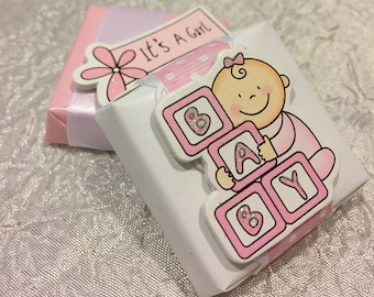 Girl Baby Shower Chocolate Favors and Gifts - Pink, It's A Girl