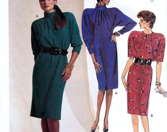 McCall's 2710 Vintage 80s Sewing Pattern for Misses' Dress - Uncut - Size 10, 12, 14