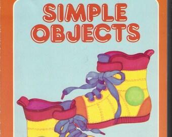 Preschool Simple Objects Vintage Coloring Book, C1987