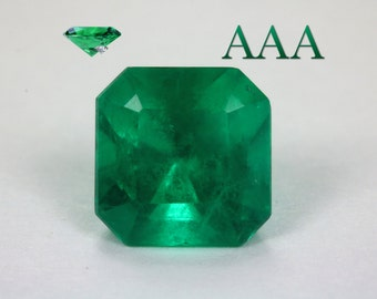 2.57cts Intense Blue Green Investment Quality Loose Natural Colombian Emerald, Emerald Emerald Cut, Fine Quality Natural Emerald, Emerald
