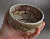 Shaving Bowl Ready To Ship Chawan Random Line Lather Shaving Bowl by Symmetrical Pottery