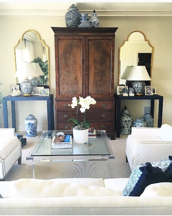 Grasscloth Console Table - Custom Built To Suit Your Space- Design Your OWN