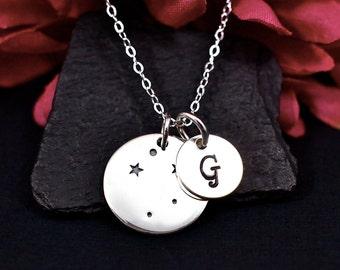 Libra Constellation Necklace Sterling Silver | Libra Jewelry | Libra Sign Necklace | Libra Zodiak | Personalized Libra Birthday Gift