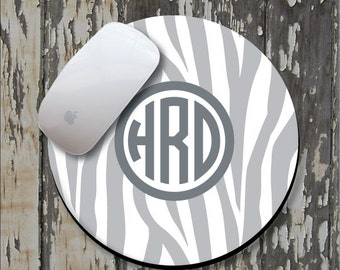 ZEBRA Personalized Mouse Pad, Personalized Mousepad, Monogrammed Mouse Pad, Monogrammed Mousepad, Custom Mouse Pad, Custom Mousepad
