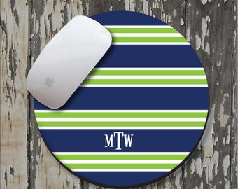 CREW Personalized Mouse Pad, Personalized Mousepad, Monogrammed Mouse Pad, Monogrammed Mousepad, Custom Mouse Pad, Custom Mousepad