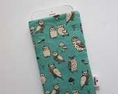 Owls aqua Case iPhone 5s SE 6s 6s Plus iPod Classic HTC One A9 LG G5 Samsung Galaxy S7 Edge Sony Xperia Z5 Compact Nexus 5X 6P Sleeve