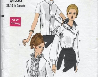 Vogue 7404 Womens 60s OverBlouse Sewing Pattern Bust 36