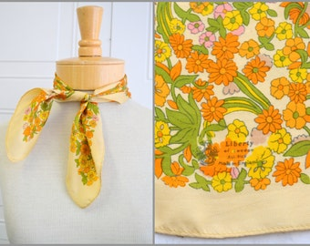 1960s Liberty of London Silk Floral Scarf