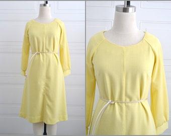 1970s Bleeker Street Yellow Dress