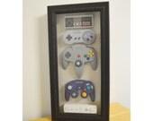 Nintendo History Decor Shadow Box Framed