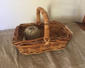 Fabulous High Quality Vintage wicker basket / My French Home / My Vintage Home