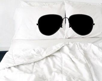 Sunglasses Pillows Cool Glasses Pillows Nerdy Pillows Glasses Nerd Pillow Bed Bedroom Black and White Sunglasses Aviator Sunglasses PIllow