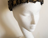 Unisex 'Majesté' Black and Gold Rococo Crown Couture High Fashion Goth