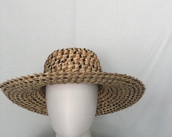 1970s Bohemian Straw Multi Colored Hat
