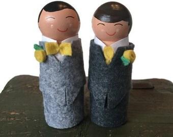 Groom & Groom Wedding Cake Topper Gay Wedding Cake Topper Gay Wedding Same Sex Wedding