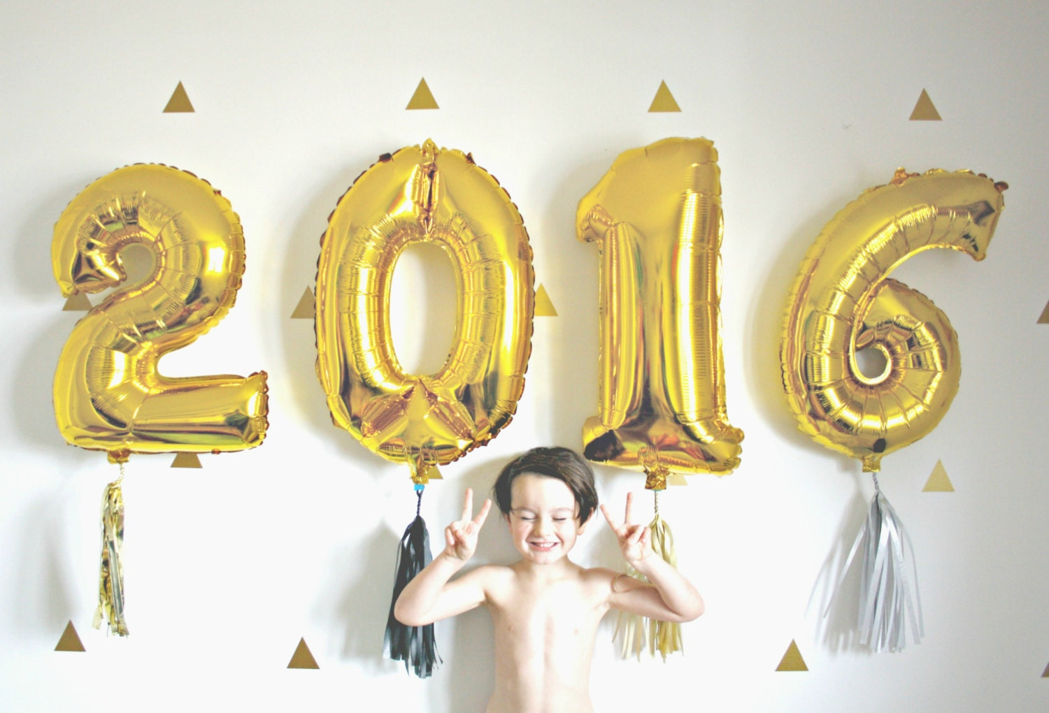New years eve 2017 gold number balloons with tassel 2016 for Number 1 decorations