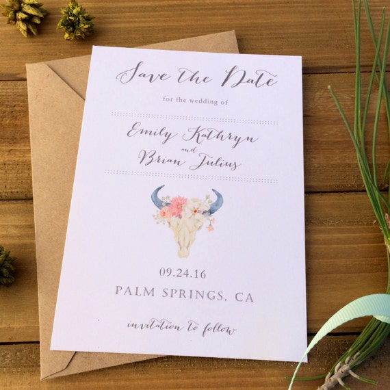 Desert Chic Save the Date cards