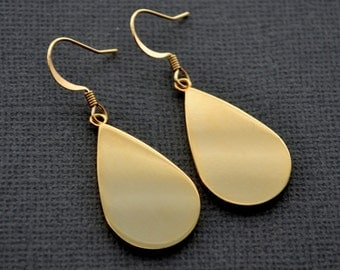 Gold Teardrops . Earrings