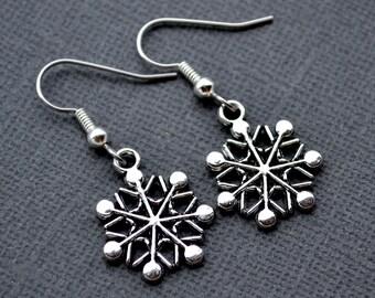 Silver Snowflakes . Earrings