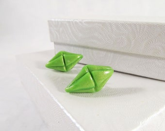 Sims Plumbob Earrings, Green Sims Jewelry, Green Cosplay Earrings, Green Convention Studs