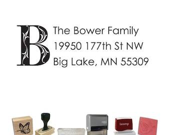 Custom Address Stamp - Letter Return Address PR572