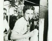 "Vintage Photo ""The Wine Thief"" Snapshot Photo Old Antique Photo Black & White Photograph Found Paper Ephemera Vernacular - 84"