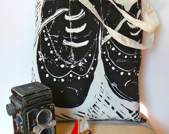 Fashion Forward Brogues Hand-Printed Bag