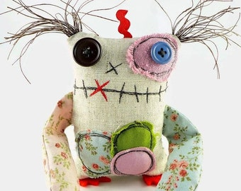 Plush Monster - Stuffed Monster Doll - Personalized Halloween Gift